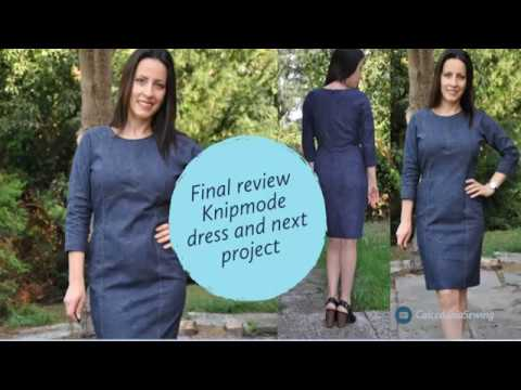 7d95d40671 Knipmode #1/06/2018 dress pattern review and next sewing project, plus tips  on top stitching denim