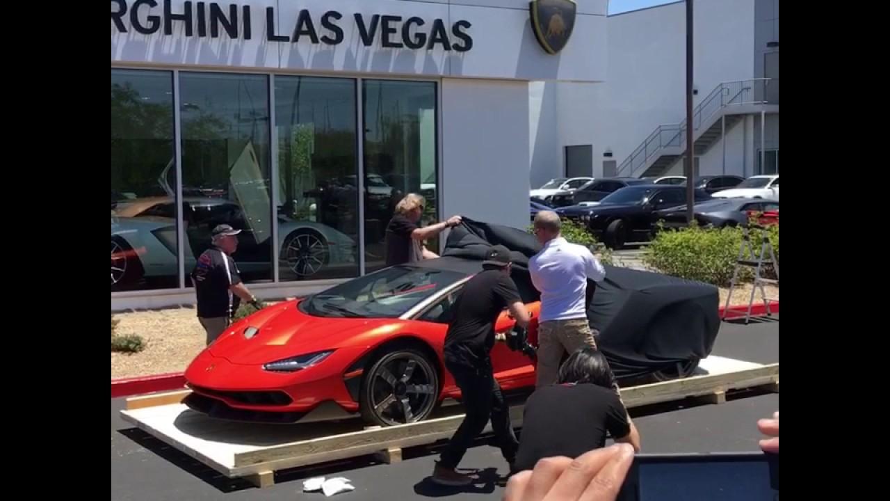 Lamborghini Centenario Unveiling In Las Vegas Youtube
