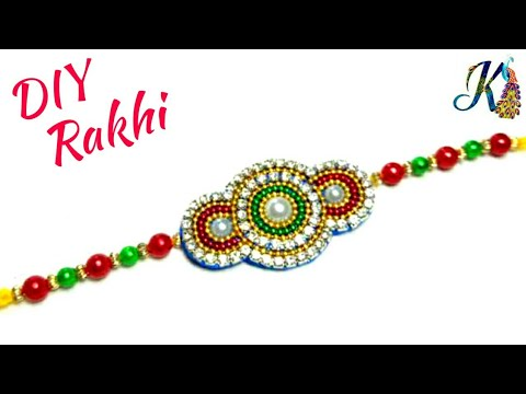 How to make Rakhi at home | diy rakhi making | handmade rakhi | raksha bandhan | rakhi making idea