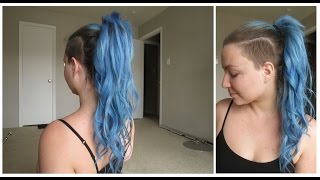 grwm hair style how to put hair extensions into a ponytail