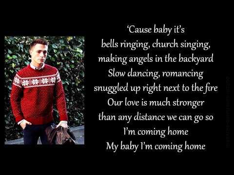Travis-Atreo & Colton Haynes - Baby It's Christmas piano version (lyrics)