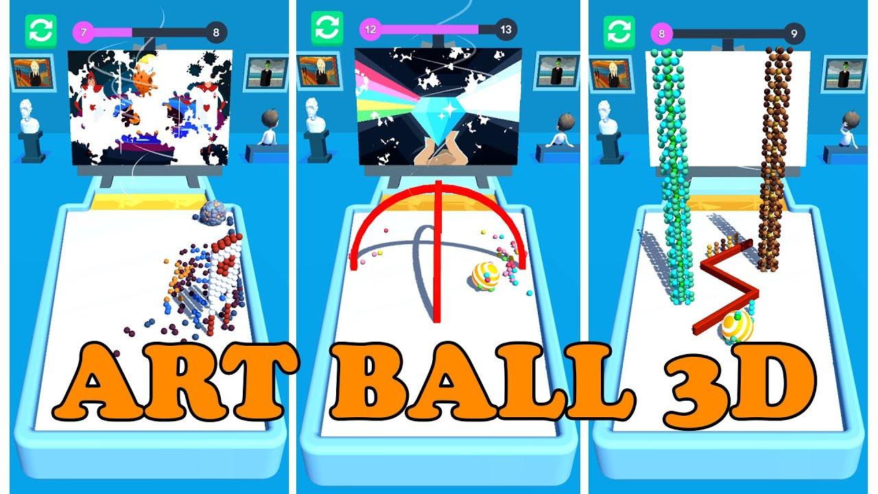 Art Ball 3D  -  Gameplay | 20 Levels image