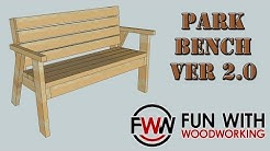 How to build a Park Bench with a reclined seat Ver 2.0
