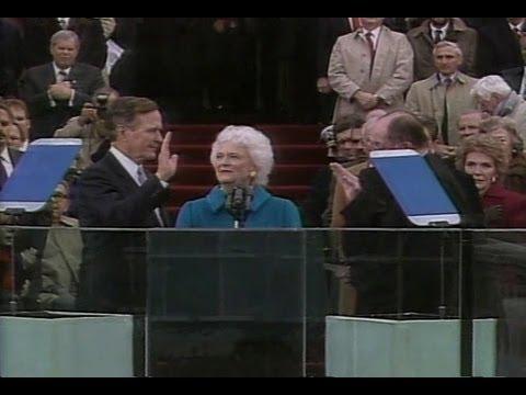 Jan. 20, 1989: Inaugural Ceremonies for George H.W. Bush