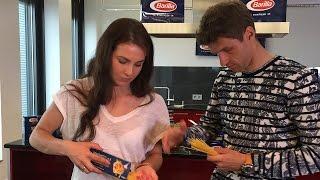 Thomas Müller & Lisa Müller @ Pasta kochen mit Barilla