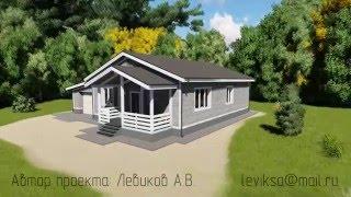 видео Проект одноэтажного дома на 3 спальни   B-018-ТП