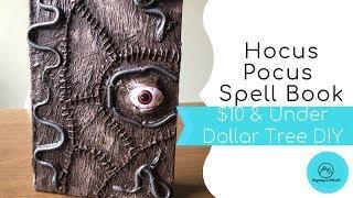 $10 & Under Dollar Tree DIY - Hocus Pocus Spell Book