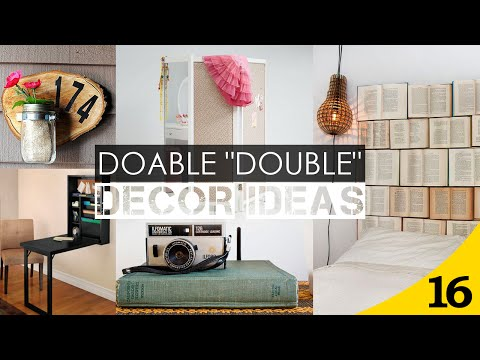 "16 Doable ""Double"" Home decor ideas"