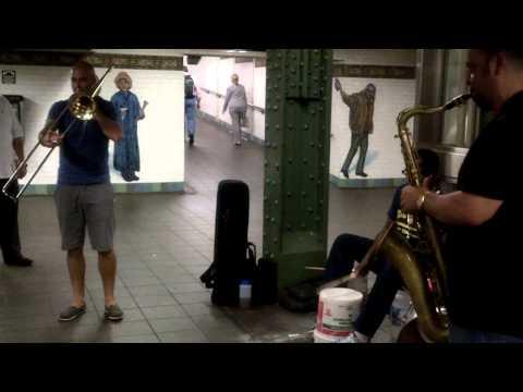 Musical Performance at Subway Station NY