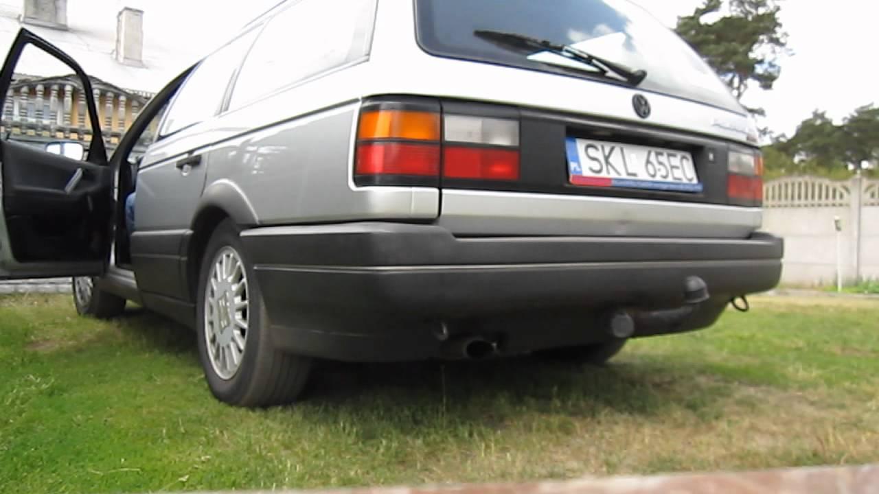 1# VW Passat B3 G60 4x4 Syncro - exhaust sound, wydech - YouTube