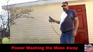 Power Washing the Moss Away