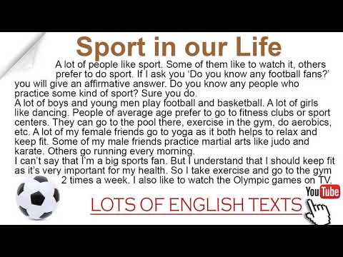 Sport In Our Life | Lots Of English Texts With Audio