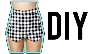 DIY Asymmetrical Skirt/Skort! | Make Thrift Buy #15