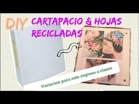 DIY Carpeta/cartapacio + Hojas Recicladas || REGRESO A CLASES