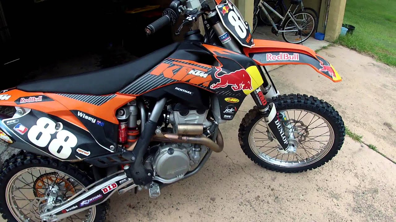 ktm 2013 250sx-f, fmf 4.1 rct exhaust - youtube