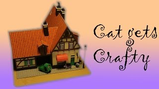 Japanese Miniature Papercraft of Kiki's Delivery Service