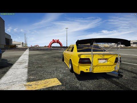 GTA 5 FiveM SARP   Hot Boi Toyota Chaser Track/Street Drifting! - New Drift Track! & Hella Cops!