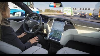 3 tests with Tesla l When you fall asleep in autopilot mode,Autopilot predicts crash,Crash Tests