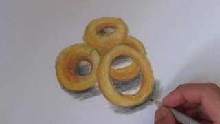 Realistic Onion Rings (Speed Drawing)
