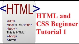 HTML and CSS Beginner Tutorial