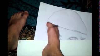 Vizatim me këmbë-Drawing by leg - Arbër Krasniqi