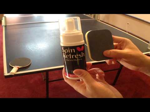 How To Use Butterfly Table Tennis Racket Care Kit Rubber Cleaner