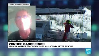 'A light in the night': Vendée Globe director describes overnight rescue of French skipper at sea