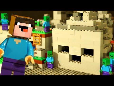 САМОДЕЛКА Майнкрафт Пещера ЗОМБИ   Лего НУБик Анимация