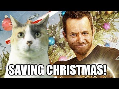 Creationist Cat Watches Saving Christmas!