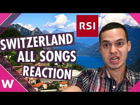 Switzerland RSI Eurovision 2019 Reaction - all 13 songs