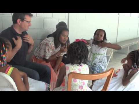 Séance avec 5 petites filles