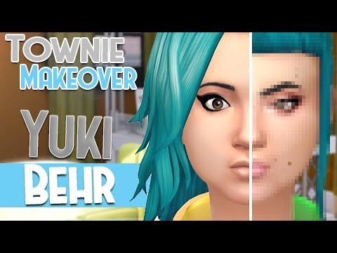The Sims 4: Townie Makeover || Yuki Behr - SpringSims