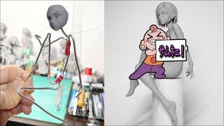 【呪術廻戦】釘崎野薔薇(水着)のフィギュアを作ってみた【粘土】the Making of Nobara Kugisaki Figure - Jujutsu Kaisen.