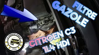 COMMENT CHANGER UN FILTRE À GAZOLE 🍺 SUR CITROEN C3 1L4 HDI (PURGE MANUELLE) 🚗 ?