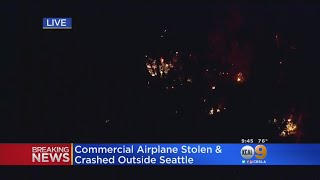 Plane Stolen By Sea-Tac Airport Employee Crashes Near Seattle thumbnail