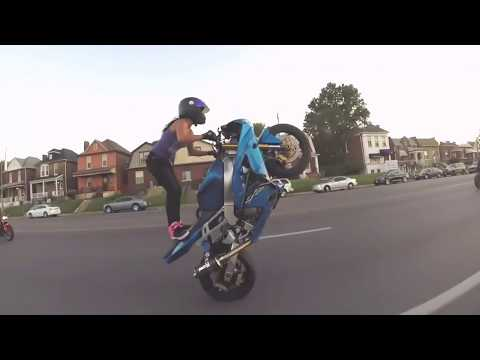 crazy Jannatul Nayeem Avril, Crazy girl does motorcycle stunts জান্নাতুল নাইম বাইক রেসিং thumbnail