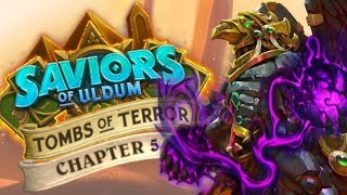 NAIL BITING TRUMPIDITY ヽ(`Д´)ノ Tombs of Terror Heroic Ch. 5 | Saviors of Uldum | Hearthstone