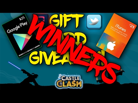 Itunes And Google Play Card Gift Cards Giveaway Winners!