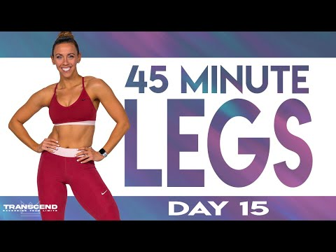 45 Minute Legs Workout | TRANSCEND - Day 15