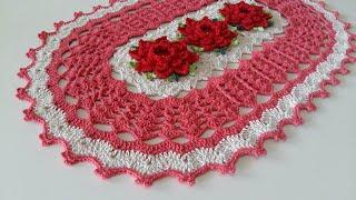 Aprenda Fazer Tapete de Croche com Lindas Flores