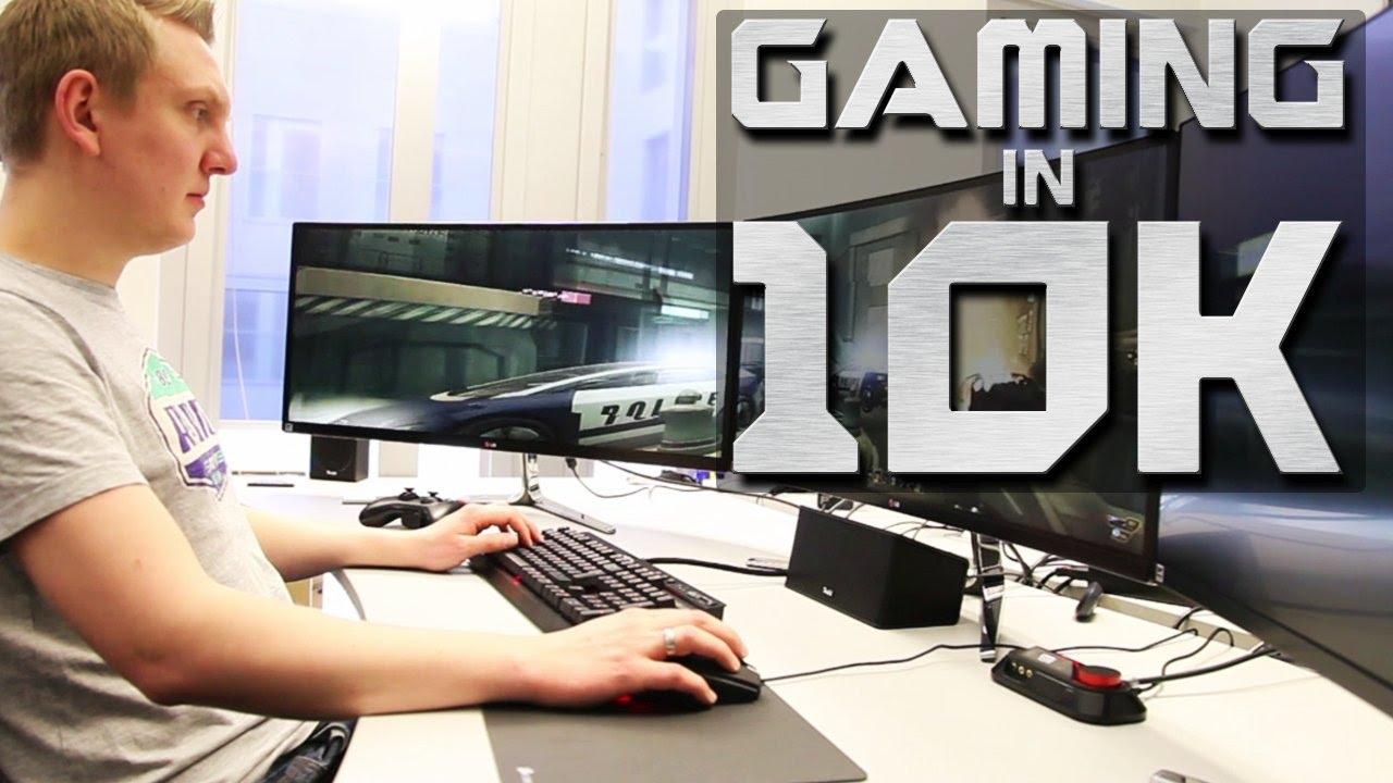 Gamer zimmer 6 bildschirme  Gaming in 10K - drei Monitore, ein Monster-PC und zahlreiche ...