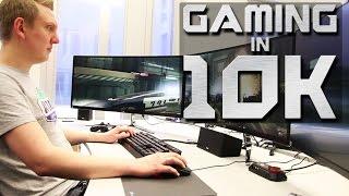 Gaming in 10K - drei Monitore, ein Monster-PC und zahlreiche Spieleindrücke.