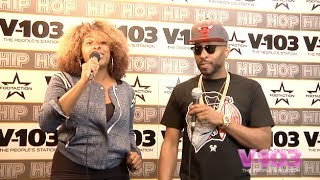 Drumma Boy At The V-103 Hip Hop Conference With Ramona DeBreaux