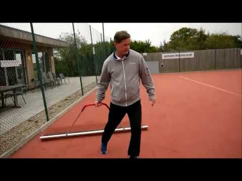 Artificial Clay Tennis Court Maintenance After Play