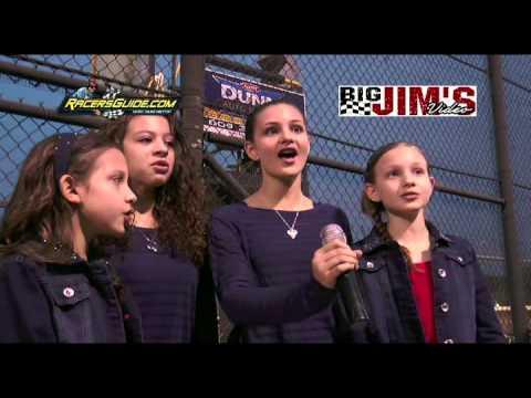 New Egypt Speedway Attila sisters National Anthem (AMAZING!)