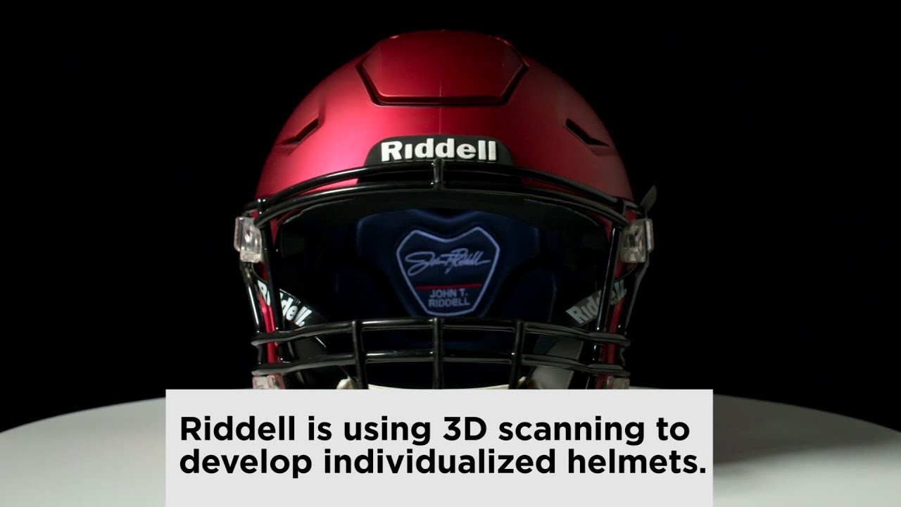 Riddell S New 3d Scanned Football Helmet With Advice From Peyton