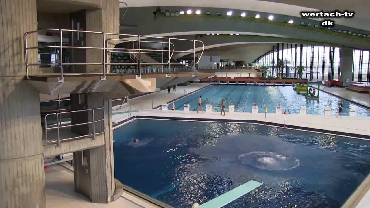 Luxemburg Hallenbad mit 10m Turm - YouTube