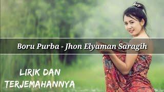 Gambar cover Boru Purba - Jhon Elyaman Saragih (Lirik Dan Terjemahannya) | Lagu Simalungun