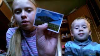 Карточки с динозаврами из дикси