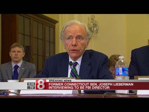 Former Conn. Sen. Joe Lieberman interviewing to be FBI Director